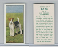 B0-0 Barbers Tea, Dogs, 1961, #14 Fox Terrier