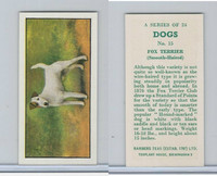 B0-0 Barbers Tea, Dogs, 1961, #15 Fox Terrier, Smooth Haired