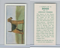 B0-0 Barbers Tea, Dogs, 1961, #17 Airedale Terrier