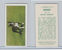 B0-0 Barbers Tea, Dogs, 1961, #18 Boston Terrier