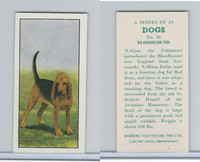 B0-0 Barbers Tea, Dogs, 1961, #20 Bloodhound