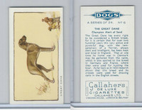 G12-80 Gallaher Tobacco, Dogs, 1934, #6 Great Dane