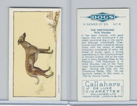 G12-80 Gallaher Tobacco, Dogs, 1934, #8 Greyhound