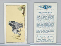 G12-80 Gallaher Tobacco, Dogs, 1934, #13 Cocker Spaniel
