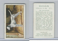 G12-81 Gallaher Tobacco, Dogs, 1936, #1 Dalmatian