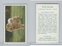 G12-81 Gallaher Tobacco, Dogs, 1936, #9 Chow Chow