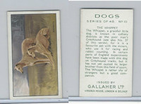 G12-81 Gallaher Tobacco, Dogs, 1936, #10 Whippet