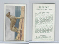 G12-81 Gallaher Tobacco, Dogs, 1936, #11 Great Dane