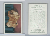 G12-81 Gallaher Tobacco, Dogs, 1936, #13 Pekingese