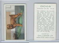 G12-81 Gallaher Tobacco, Dogs, 1936, #18 Griffon Bruxellois