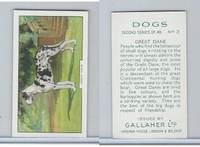 G12-81b Gallaher Tobacco, Dogs 2nd Series, 1938, #3 Great Dane
