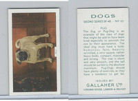 G12-81b Gallaher Tobacco, Dogs 2nd Series, 1938, #10 Pug