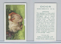 G12-81b Gallaher Tobacco, Dogs 2nd Series, 1938, #16 Japanese