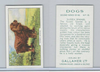 G12-81b Gallaher Tobacco, Dogs 2nd Series, 1938, #18 Sussex Spaniel