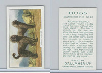 G12-81b Gallaher Tobacco, Dogs 2nd Series, 1938, #20 Afghan Hound