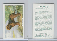 G12-81b Gallaher Tobacco, Dogs 2nd Series, 1938, #21 Otterhound