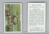 G12-81b Gallaher Tobacco, Dogs 2nd Series, 1938, #38 Schnauzer