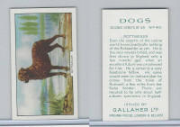 G12-81b Gallaher Tobacco, Dogs 2nd Series, 1938, #40 Rottweiler
