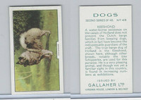 G12-81b Gallaher Tobacco, Dogs 2nd Series, 1938, #46 Keeshond