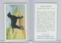 G12-81b Gallaher Tobacco, Dogs 2nd Series, 1938, #47 Curly-Coated Retriever