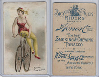 N100 Duke, Bicycle & Trick Riders, 1890, Riding Side Saddle