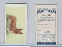 P0-0 Priory Tea, I Spy Dogs, 1957, #1 Pembroke Corgi