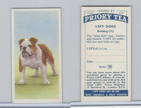 P0-0 Priory Tea, I Spy Dogs, 1957, #11 Bulldog