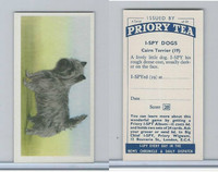 P0-0 Priory Tea, I Spy Dogs, 1957, #19 Cairn Terrier