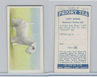 P0-0 Priory Tea, I Spy Dogs, 1957, #23 Sealyham Terrier