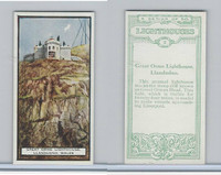 B0-0 British Tobacco Card, Lighthouses, #2 Great Orme, Llandudno, Wales