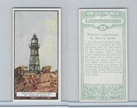 B0-0 British Tobacco Card, Lighthouses, #13 Penninis, St. Mary's Scilly