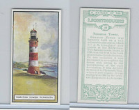 B0-0 British Tobacco Card, Lighthouses, #18 Smeaton Tower, Plymouth