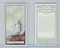 B0-0 British Tobacco Card, Lighthouses, #19 St. Anthony's, Falmouth