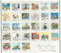 Australia, Postage Stamp, #1053-1078 Used Set, 1988, JFZ