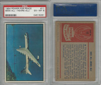 1954 Bowman, Power For Peace, #11 Sees All-Hears All!, PSA 6 EXMT
