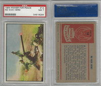1954 Bowman, Power For Peace, #14 No Kick Here!, PSA 7 NM