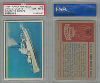 1954 Bowman, Power For Peace, #25 U.S.C.G. Cadets Cruise, PSA 8 NMMT