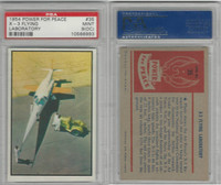 1954 Bowman, Power For Peace, #35 X-3 Flying Laboratory, PSA 9 OC Mint