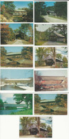 Postcard Lot of 11, Maine Covered Bridges, Andover, Bethel, Bangor, JFZ