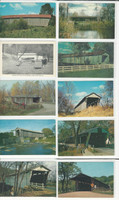 Postcard Lot of 10, Ohio & Pennsylvania Covered Bridges P, JFZ