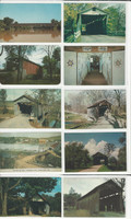 Postcard Lot of 10, Ohio & Pennsylvania Covered Bridges Q, JFZ