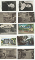 Postcard Lot of 10, History I, President John Adams, Quincy Mass, JFZ