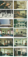 Postcard Lot of 12, History M, President WH Harrison, Vincennes IN, JFZ