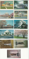 Postcard Lot of 11, History S, President Jefferson, Memorial, JFZ