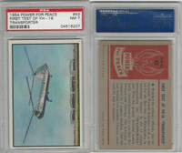 1954 Bowman, Power For Peace, #43 First Test Of Yh-16 Transporter, PSA 7 NM