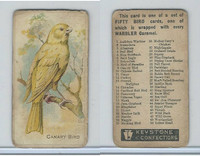 E34 Keystone Confections, Bird Cards, 1910, Canary Bird