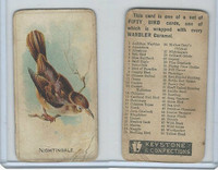 E34 Keystone Confections, Bird Cards, 1910, Nightingdale