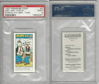 P0-0 Primrose Confectionery, Popeye 4th Series, 1970, #3, PSA 9 Mint