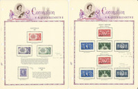 British Colonies Stamp Collection on 8 Pages, Mint Queen Elizabeth 1953