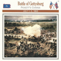 1995 Atlas, Civil War Cards, #01.05 Battle of Gettysburg, Pickett's Charge